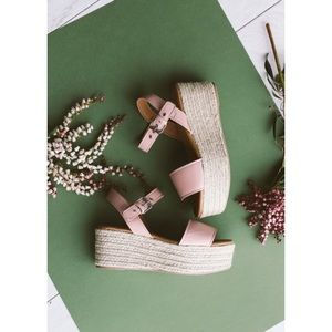 Shoes - Blush espadrille sandals NWT